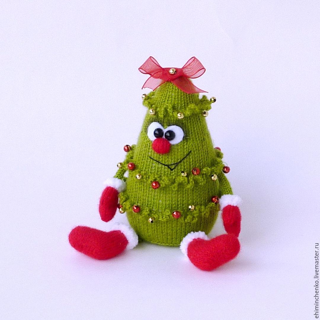Вязание крючком игрушек на елку