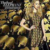 Материалы для творчества handmade. Livemaster - original item Beautiful jacquard, Golden elephant. Handmade.