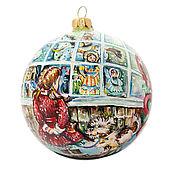 """Подарки к праздникам ручной работы. Ярмарка Мастеров - ручная работа Елочный шар """" Новогодний магазин"""". Handmade."""