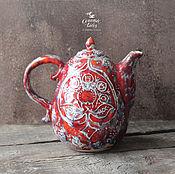 """Посуда ручной работы. Ярмарка Мастеров - ручная работа Чайник """"Красный Бархат"""". Handmade."""