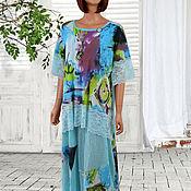 """Платья ручной работы. Ярмарка Мастеров - ручная работа Длинное Бохо платье Violette bleu """". Handmade."""
