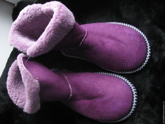 Обувь ручной работы. Ярмарка Мастеров - ручная работа. Купить Угги из натуральной овчины.Жёсткая подошва. Handmade. Угги, мутон