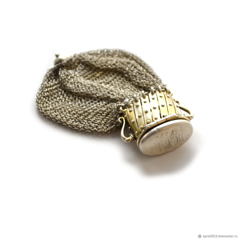 Винтаж: Кольчужная сумочка-кисет. Антикварное серебро, винтаж, Сумки винтажные, Сосногорск,  Фото №1