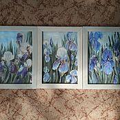 Картины и панно handmade. Livemaster - original item Modular Irises pattern. Handmade.