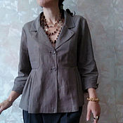 Одежда ручной работы. Ярмарка Мастеров - ручная работа жакет льняной Лондон. Handmade.