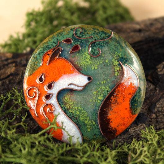"""Броши ручной работы. Ярмарка Мастеров - ручная работа. Купить Брошь """"Лис-Хранитель"""" лиса, лисичка, лесной. Handmade. Рыжий"""