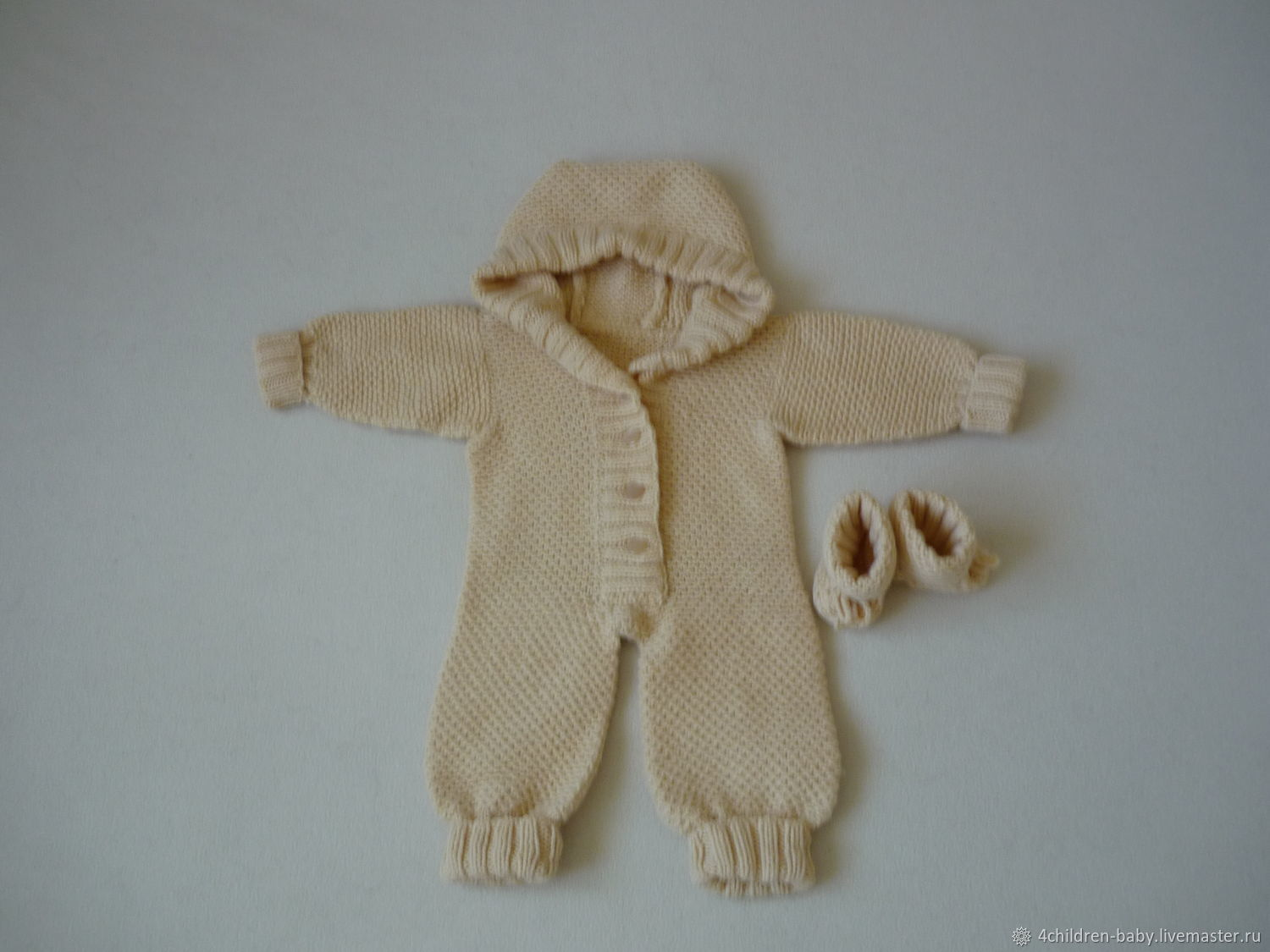 Hand-knitted romper for girls, Overall for children, Moscow,  Фото №1