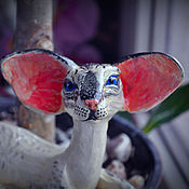 Для дома и интерьера handmade. Livemaster - original item Siamese cat Tenaya. Handmade.