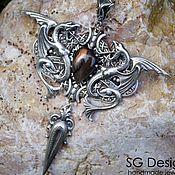 handmade. Livemaster - original item Pendant silver
