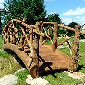 Для дома и интерьера handmade. Livemaster - original item Bridge wooden garden decorative made of solid pine and driftwood. Handmade.