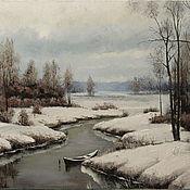 Картины и панно handmade. Livemaster - original item Pictures: Winter river. Handmade.