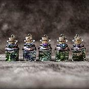 """Кулон ручной работы. Ярмарка Мастеров - ручная работа Кулон """"Бутылочка с зельем"""" с сухоцветами. Handmade."""