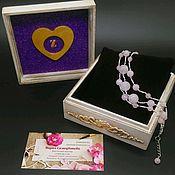 Украшения handmade. Livemaster - original item Bracelet pink quartz. Handmade.