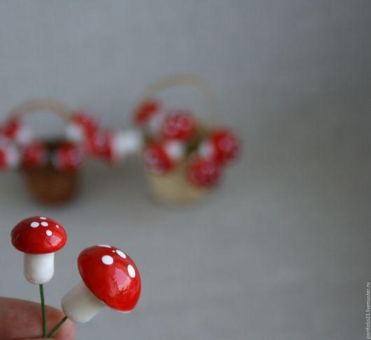 Куклы и игрушки ручной работы. Ярмарка Мастеров - ручная работа. Купить Грибочки. Handmade. Ярко-красный, грибы, грибочек, грибочек
