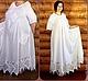 """Большие размеры ручной работы. Платье длинное свободного кроя с коротким рукавом """"Белый Лен"""". OLGA'Z. Ярмарка Мастеров."""