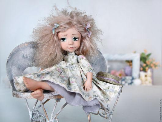 """Коллекционные куклы ручной работы. Ярмарка Мастеров - ручная работа. Купить Кукла Болтушка """"Асенька"""". Handmade. Бледно-розовый"""