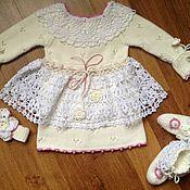 Работы для детей, ручной работы. Ярмарка Мастеров - ручная работа Наряд, платье на Крещение. Handmade.