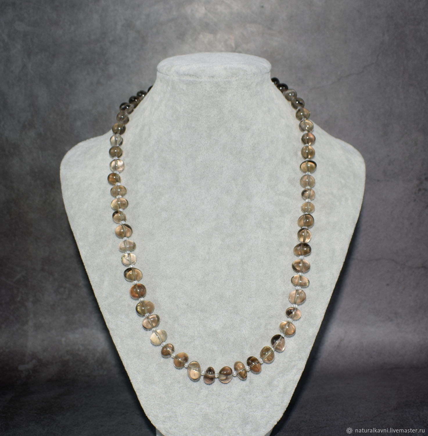 Beads made from natural Topaz, Beads2, Moscow,  Фото №1