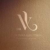 Дизайн ручной работы. Ярмарка Мастеров - ручная работа Монограмма VK. Handmade.
