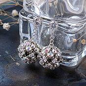 Украшения ручной работы. Ярмарка Мастеров - ручная работа Серьги-шарики с кристаллами Swarovski. Handmade.