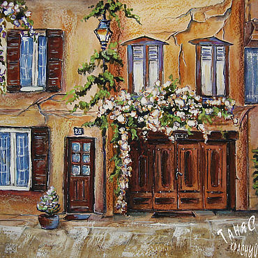 Pictures and panels handmade. Livemaster - original item Painting watercolor IN ITALY. Handmade.