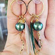 Украшения handmade. Livemaster - original item Cotton pearl earrings-RIO MY RIO !!!. Handmade.