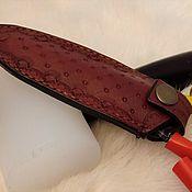 Чехлы и кофры ручной работы. Ярмарка Мастеров - ручная работа Чехол для ножниц, натуральная кожа, тиснение. Handmade.