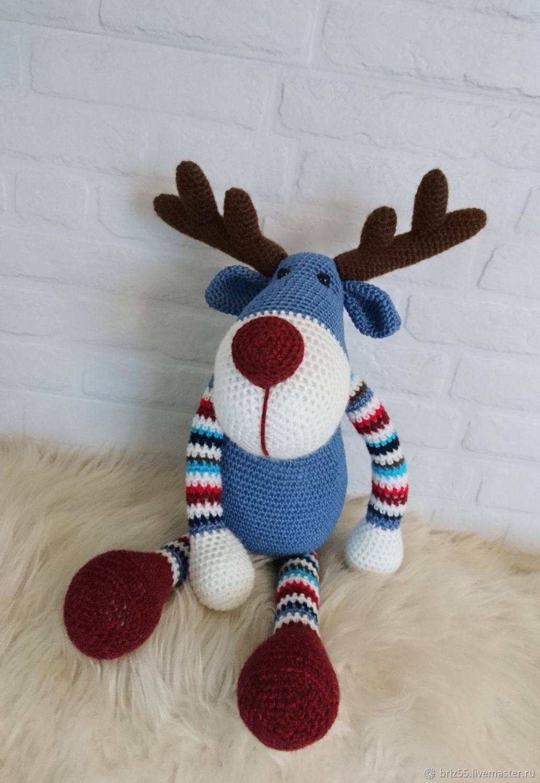 Reindeer Ralph, interior soft toy crochet, Stuffed Toys, Zelenograd,  Фото №1