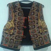Одежда ручной работы. Ярмарка Мастеров - ручная работа жилет-телогрейка из п/платка. Handmade.