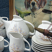 Винтаж handmade. Livemaster - original item The wind. Coffee set for 6 persons.. Handmade.
