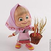 """Куклы и игрушки ручной работы. Ярмарка Мастеров - ручная работа Кукла Маша из мультика """"Маша и медведь"""" в чувашском наряде. Handmade."""