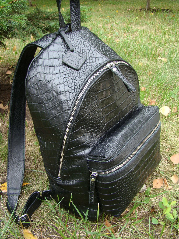 Рюкзаки ручной работы. Ярмарка Мастеров - ручная работа. Купить Стильный  Кожаный рюкзак