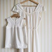 Одежда handmade. Livemaster - original item Nightgowns silk for mom and daughter. Handmade.