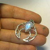 handmade. Livemaster - original item suspension: Moonstone pendant. Handmade.