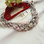 "Украшения handmade. Livemaster - original item Braided necklace ""Gentle touch"". Handmade."