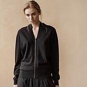 Одежда handmade. Livemaster - original item Cashmere bomber jacket with zipper. Handmade.