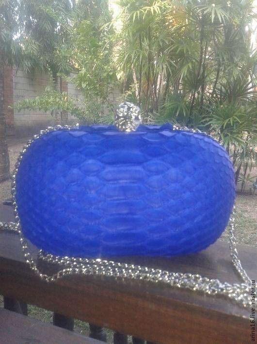 Женские сумки ручной работы. Ярмарка Мастеров - ручная работа. Купить Клатч Monro2. Handmade. Синий, клатч из натуральной кожи