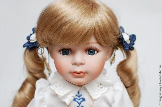 """Коллекционные куклы ручной работы. Ярмарка Мастеров - ручная работа. Купить Фарфоровая кукла """"Анастасия"""". Handmade. Тёмно-синий"""