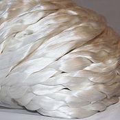 Материалы для творчества ручной работы. Ярмарка Мастеров - ручная работа Шелк малберри волокна для валяния. Handmade.