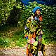 Order Light Cotton Coat with Tropic Fruits Print. Mongolia. Livemaster. . CoatsФото №3
