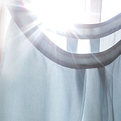 """Одежда ручной работы. Ярмарка Мастеров - ручная работа Блузка шелковая """"Небесная"""". Handmade."""