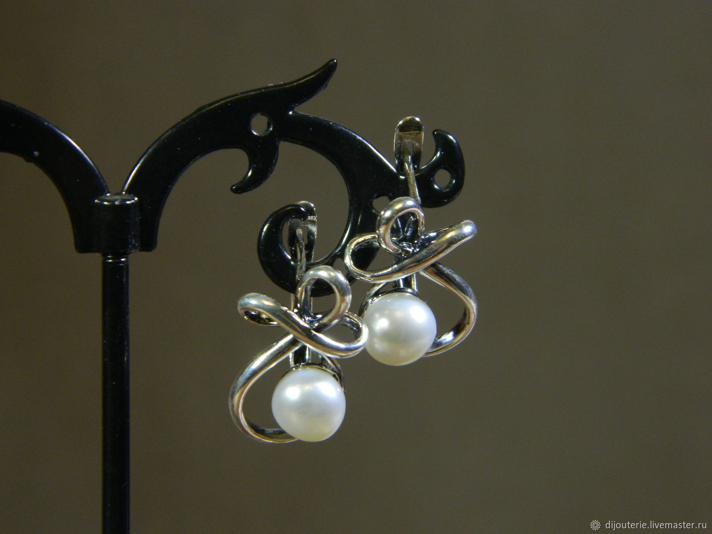 Earrings with pearls, Earrings, Saratov,  Фото №1