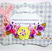 """Свадебный салон ручной работы. Ярмарка Мастеров - ручная работа Сберкнижка для молодоженов """"Весна"""". Handmade."""