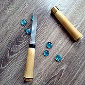 Сувениры и подарки handmade. Livemaster - original item Bamboo knife from forged HH12MF. Handmade.