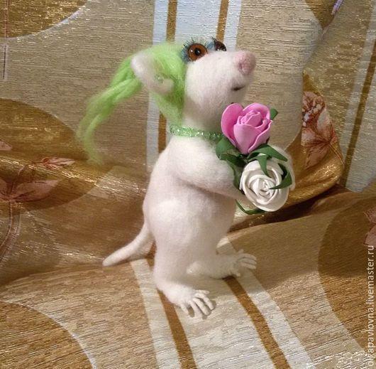 Игрушки животные, ручной работы. Ярмарка Мастеров - ручная работа. Купить Мышка полярная - Ксюша. Handmade. Комбинированный, для дома и интерьера