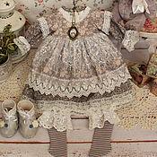 Куклы и игрушки handmade. Livemaster - original item Clothes for dolls. Outfit boho, shabby chic for Anastasia. Handmade.