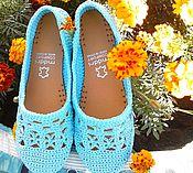 Обувь ручной работы handmade. Livemaster - original item Fishnet ballet flats. Handmade.