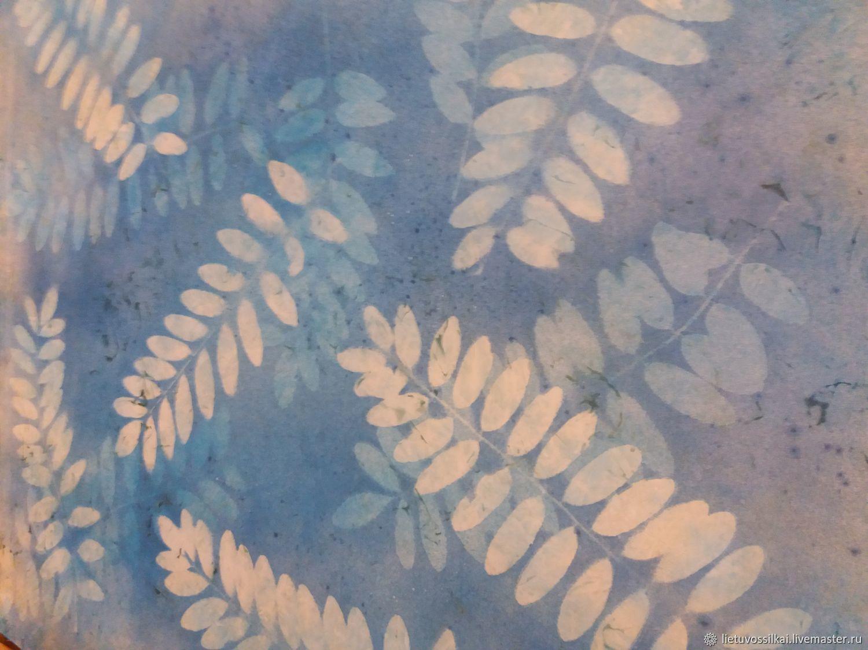 Silk scarf Frosty morning. 100% silk. Size 90h90 cm, Shawls1, Vilnius,  Фото №1
