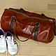 Спортивные сумки ручной работы. Ярмарка Мастеров - ручная работа. Купить Спортивная кожаная сумка. Handmade. Рыжий, кожаная, карманы