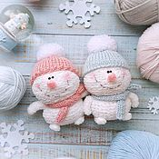 Мягкие игрушки ручной работы. Ярмарка Мастеров - ручная работа Игрушка снеговик, подарок на Новый год, мягкая игрушка ручной работы. Handmade.